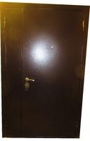 Техническая металлическая дверь ТД глухая двустворчатая